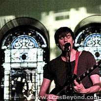 Embers' guitarist and stained glass windows