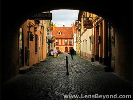 Alley next to Council Square, Brasov