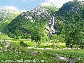 Steall Falls landscape, Scotland