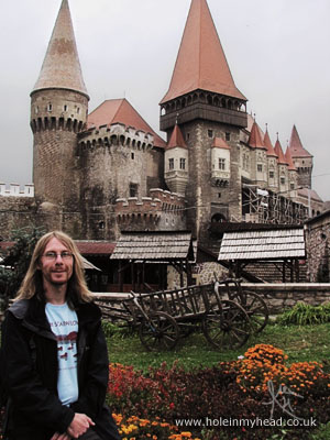 Alex at Corvin Castle, Transylvania, Romania