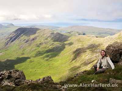 Alex near the summit of Askival, Isle of Rum, Scotland