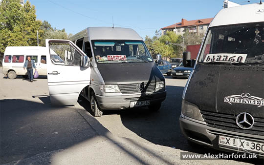 Two Mercedes Marshrutka