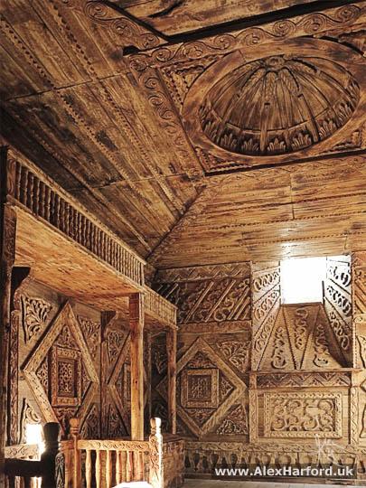 Wooden carved bedroom