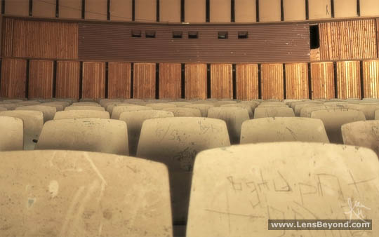 Dusty cinema seats