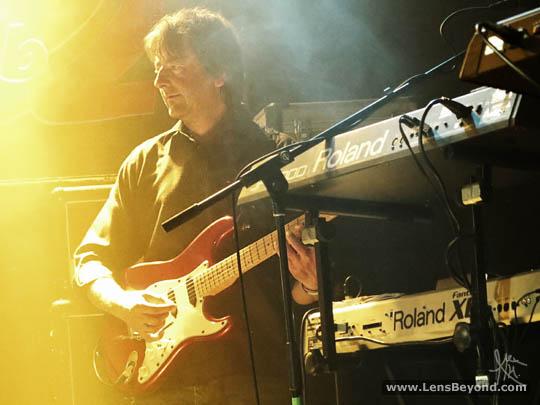 Liam Davison playing guitar
