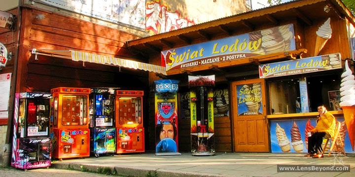 Colourful arcade games in Zakopane