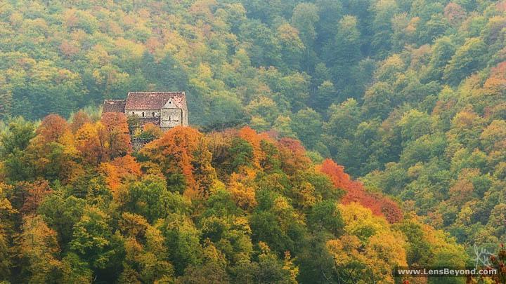 Cisnădioara's Fortified Church in autumn