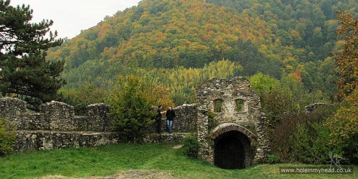 Photo of outer wall at Cisnădioara's Fortress Church