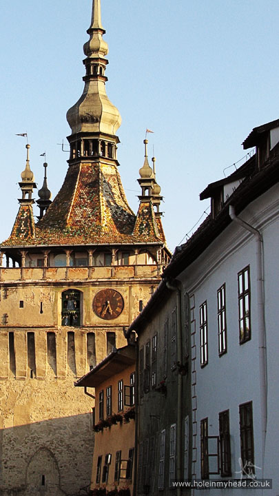 Photo of Sighişoara's Clock Tower from Piata Cetatii