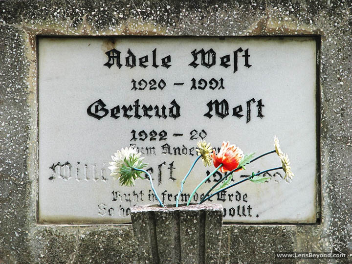Adele, Gertrud and Milli - Headstone and flowers, Church on the Hill