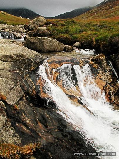Upstream waterfall in Glen Rosa