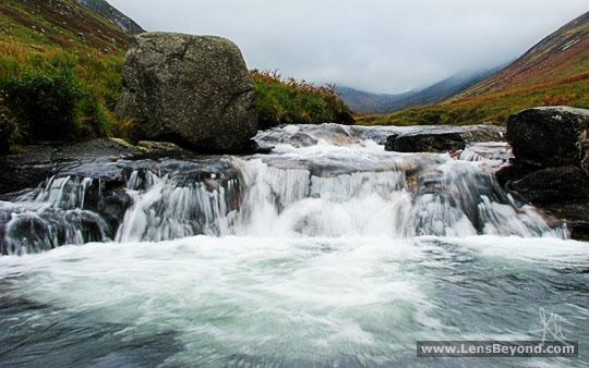 Waterfall in Glen Rosa