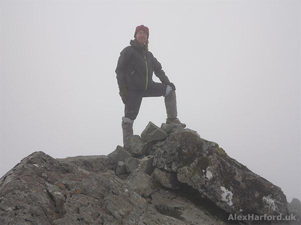 Alex on Sgùrr Alasdair's summit (hopefully)