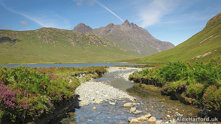 Nan Gillean mountain and Lochan Dubha river