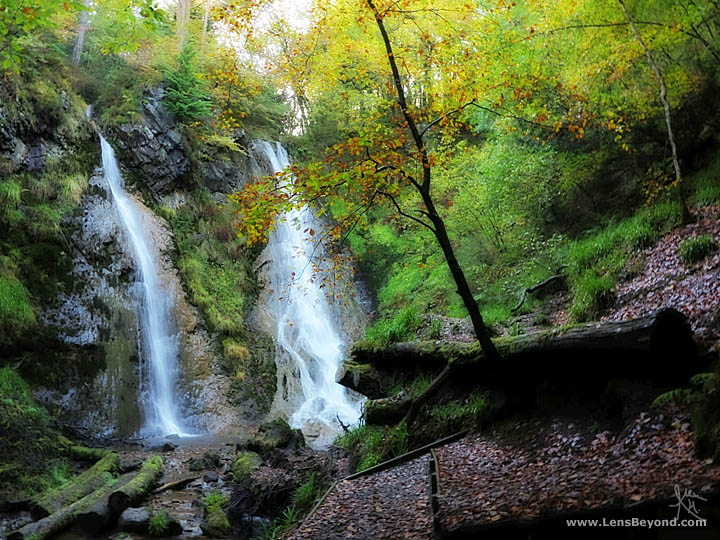 Photo of Grey Mare's Tail Waterfall in autumn