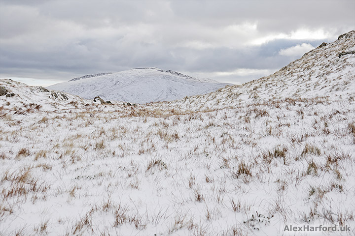 Snow-covered Moel Siabod