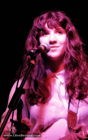 Molly Hamilton smiling, Widowspeak, Birmingham UK